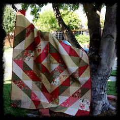 Free pattern from Moda Bake Shop.  Great use of large half square triangles