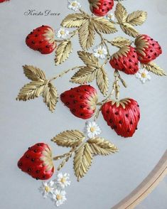 Wonderful Ribbon Embroidery Flowers by Hand Ideas. Enchanting Ribbon Embroidery Flowers by Hand Ideas. Brazilian Embroidery Stitches, Crewel Embroidery Kits, Silk Ribbon Embroidery, Hand Embroidery Patterns, Cross Stitch Embroidery, Embroidery Thread, Embroidery Supplies, Shirt Embroidery, Flower Embroidery