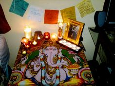 Home altar to Lord Ganesha