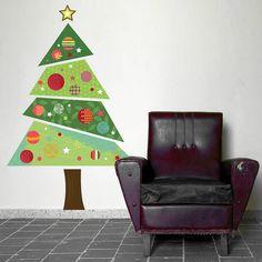 """The Perfect Alternative Christmas Tree"" from Tiny House blog   original_fabric-christmas-tree-wall-sticker-1"