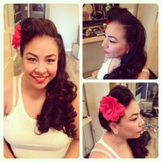 Retro Hair and makeup by Lexi Whitewall bodysalon Retro Hairstyles, Hair Makeup, Hair Styles, Retro Hair