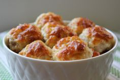 Cheesy chicken meatballs--the original pinning site moved. This is one of my favorite recipes!