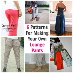 We all love to look nice, but being comfortable is usually a pretty high priority as well.  These 6 patterns are great tutorials for making your own lounge pants.  They are all different styles to ...