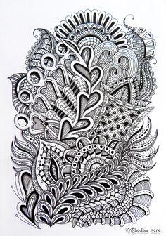 Stunning Zentangle art by Viktoriya Crichton.