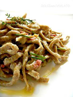 DOLCEmente SALATO: Tagliatelle integrali con crema di carciofi e pancetta