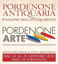 2017 - Antiquaria - Antique Show and Market, Jan. 14-22, Monday- Friday 3-7 p.m., Saturday and Sunday 10 a.m.-7 p.m., in Pordenone, Viale Treviso, 1, about 92 miles northeast of Vicenza; furniture, paintings, antique artifacts, jewelry and many curiosity and rarities; admission fee: €10; reduced €5 (senior citizens older than 65). Free for children younger than 17.