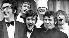Monty Python: Graham Chapman, John Cleese, Terry Gilliam, Eric Idle, Terry Jones, and Michael Palin