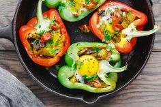 Mediterranean Dishes, Mediterranean Style, Brunch Recipes, Breakfast Recipes, Brunch Dishes, Brunch Ideas, Egg Recipes, Stuffed Peppers Healthy, Breakfast Specials