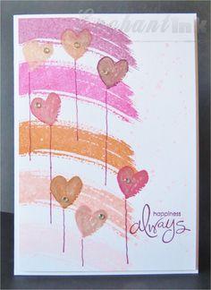 Handmade Engagement Card ... Stampin' Up! - Work of Art, Whimsical Words ... EnchantINK ... CASE: Danielle Flanders - http://www.pinterest.com/pin/461196818063027204/