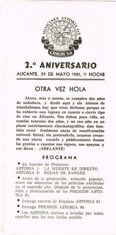 """El Acorazado Cinéfilo - Le Cuirassé Cinéphile: Cines """"Astoria"""" Alicante. 2º Aniversario. 29 Mayo ..."""