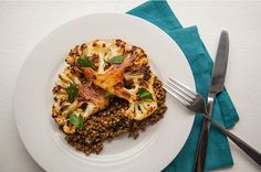 Cauliflower Steaks With Lentils | 22 High-Protein Meatless Meals Under 400 Calories
