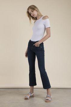 Frame Denim - Crop Mini Boot Lace Up Jeans