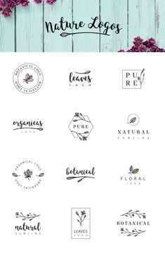 Nature & floral logos + BONUS by AgataCreate on Creative logo design inspiration, perfect for a modern business branding with perfect font and typography selection. Take some ideas or use this feminine, elegant, nature, floral and also hipster set. Great Logo Design, Graphisches Design, Minimal Logo Design, Logo Desing, Graphic Design Logos, Brand Logo Design, Food Logo Design, Great Logos, Design Ideas