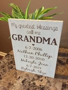 My greatest blessings call me grandma sign by TheCraftShackbyDanyJ