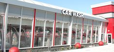 A free-standing car wash tunnel with record-breaking power and processing ability, the Totally Tommy Express serves as the ultimate car wash platform. Roof Design, Wall Design, Interior Car Wash, Express Car Wash, Car Wash Systems, Menu Signage, Automatic Car Wash, Tower House, Roofing Systems