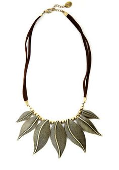 Be-Leaf It or Not Necklace 27.99, #ModCloth