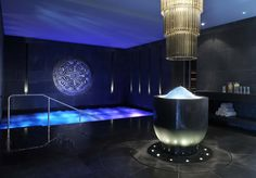 ESPA at The Europe's 50,000 sq ft spa with thermal suites includes a salt water pool, ice fountain, steam room and sauna  www.espaattheeurope.com