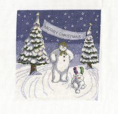 DMC BL1100/64 le bonhomme de neige et le par allaboutcrossstitch