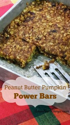 Peanut Butter Pumpkin Power Bars