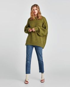 ZARA - NEW COLLECTION - SWEATER WITH PUFF SLEEVES