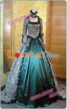 Victorian Renaissance Green Dress Wedding Ball Gown   a little on the ridiculous side, but I like it.
