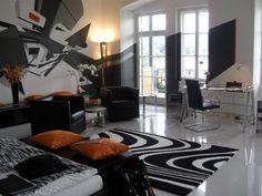 Falkensteiner Schlosshotel Velden (Озеро Вертер-Зее, Фельден, Австрия) Gunter Sachs Suite, 200 sqm, 3 bedrooms designed by graffiti artists Dare-Toast Suite Life, Cool, Hotels, Graffiti Artists, Toast, Bedrooms, Design, Home Decor, Houses