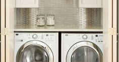 Cabinets, Laundry closet and Laundry on Pinterest
