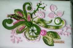 Irish Crochet Patterns, Crochet Motif, Crochet Flowers, Crochet Lace, J Fox, Crochet Earrings, Miniatures, Knitting, Handmade