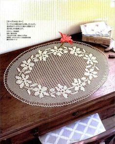 Home Decor Crochet Patterns Part 41 - Beautiful Crochet Patterns and Knitting Patterns Filet Crochet, Crochet Round, Crochet Motif, Tapete Crochet, Crochet Flower Patterns, Crochet Designs, Crochet Flowers, Crochet Table Topper, Crochet Tablecloth