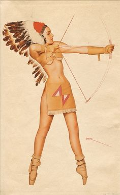 George Petty Native American women do not dress this way. Please educate yourself and others about what seeming something small can hurt us so deeply!