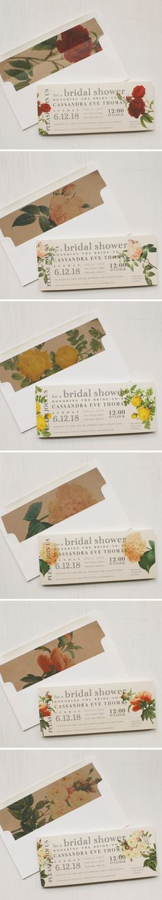 It's a garden party! Boho floral bridal shower invites. Inspired by soft and romantic heirloom roses, garden peonies and blush hydrangeas.
