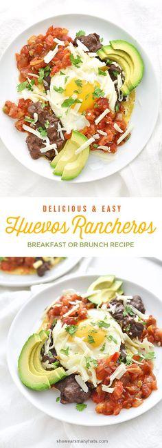Easy Huevos Rancheros Recipe | http://shewearsmanyhats.com #BushsBeans @Bushsbeans #spon