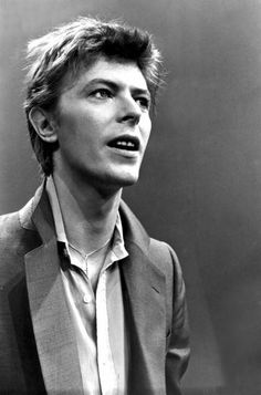 """David Bowie during a promotional tour for """"Heroes"""" (October 14 1977, Amsterdam)"""