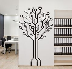 Circuit Board Tree Vinyl Wall Art / Graphic - Stickers Decals Vinyl Transfers | eBay