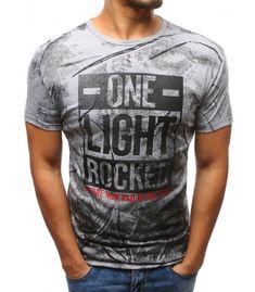 Pánske šedé tričko s potlačou b993f51635