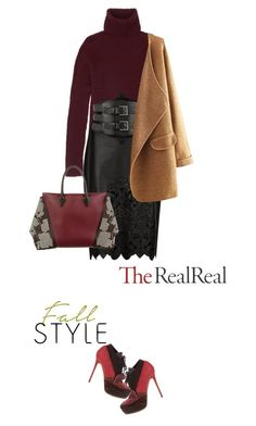 """Fall Style With The RealReal: Contest Entry"" by lana-liyer ❤ liked on Polyvore featuring Acne Studios, The Row, Erdem, Kiki de Montparnasse and Louis Vuitton"
