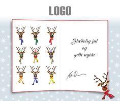ekortet.dk leverer danmarks flotteste elektroniske julekort til virksomheder. På billedet: Julekort med logo. Sjove rensdyr.Ekort, e-kort, e-julekort, ejulekort, elektroniske julekort, ecard, e-card, firmajulekort, firma julekort, erhvervsjulekort, julekort til erhverv, julekort med logo, velgørenhedsjulekort, julekort
