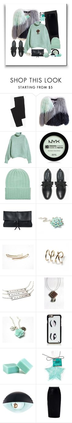 """Mint Winter"" by treasury ❤ liked on Polyvore featuring Madewell, Florence Bridge, NYX, The Elder Statesman, Max&Co., Kate Spade, Kenzo and Roland Mouret"