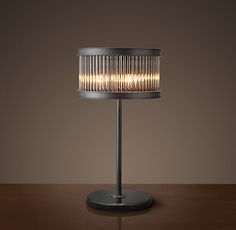 Reproduction 1920's Essex Crystal Rod Table Lamp from Restoration Hardware