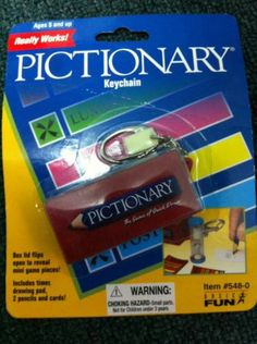 Basic Fun Pictionary Game Keychain NIP   eBay