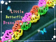 Little Butterfly Rainbow Loom Monster Tail Tutorial ~ How To Crazy Loom Bracelets, Loom Band Bracelets, Rainbow Loom Bracelets, Rainbow Loom Tutorials, Rainbow Loom Patterns, Rainbow Loom Creations, Loom Bands Instructions, Loom Bands Tutorial, Bracelet Tutorial