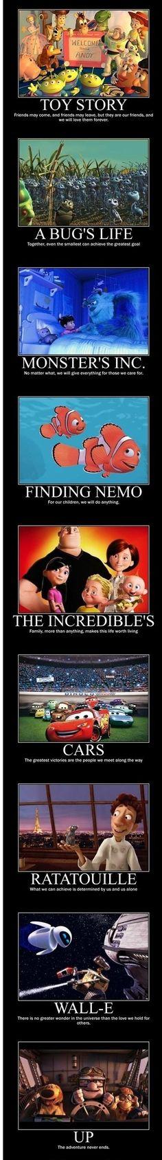 Things we learn from Pixar...