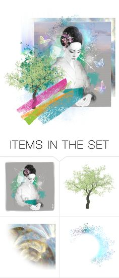 """""""Her Gentle Spring Song"""" by valeria-meira ❤ liked on Polyvore featuring art, Spring, japan, artset, artexpression and AsianArt"""