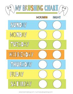 Toddler Tooth Brushing Chart Toddler Chart, Toddler Fun, Toddler Learning, Dental Health, Dental Care, Tooth Chart, Dental Posters, Dental Kids, Chore Chart Kids