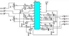 200W car amplifier schematic