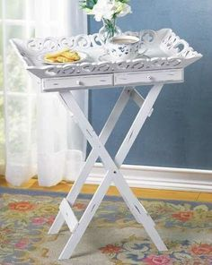 Those dreary TV dinner tables? Instant vintage side table project!!!!!!!!!!!!!