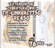 Extensor de Cobertura #Wi-Fi AC1750 TP-Link RE450. http://www.opirata.com/es/extensor-cobertura-wifi-ac1750-tplink-re450-p-37474.html
