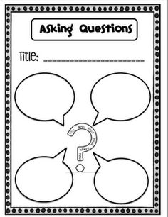 Sarah's First Grade Snippets- Simple but cute graphic organizer! During a whole class read-aloud, you can model how to pause during reading and fill in questions you have about the text. It will also make a great read-to-self exit slip option once students are comfortable with it!