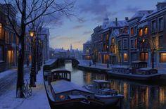 "'Winter's Footprint' 24"" x 36"" o.c.2014 by Evgeny Lushpin Art."
