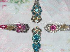 elegant tea jeweled spoon aquamarine teardrops jeweled teaspoon ...